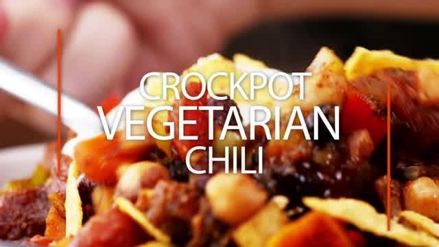 Crockpot Vegetarian Chili Recipe Vegan Gluten Free 3 Kinds Of Beans Recipe In 2020 Dog Treats Homemade Recipes Recipes Food Dishes
