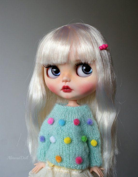Polly zakázku OOAK blythe doll jedinečné umělecké panenky podle AlmondDoll
