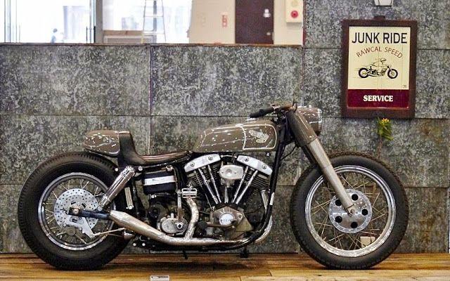 ϟ Hell Kustom ϟ: Harley Davidson Shovelhead By Junk Ride