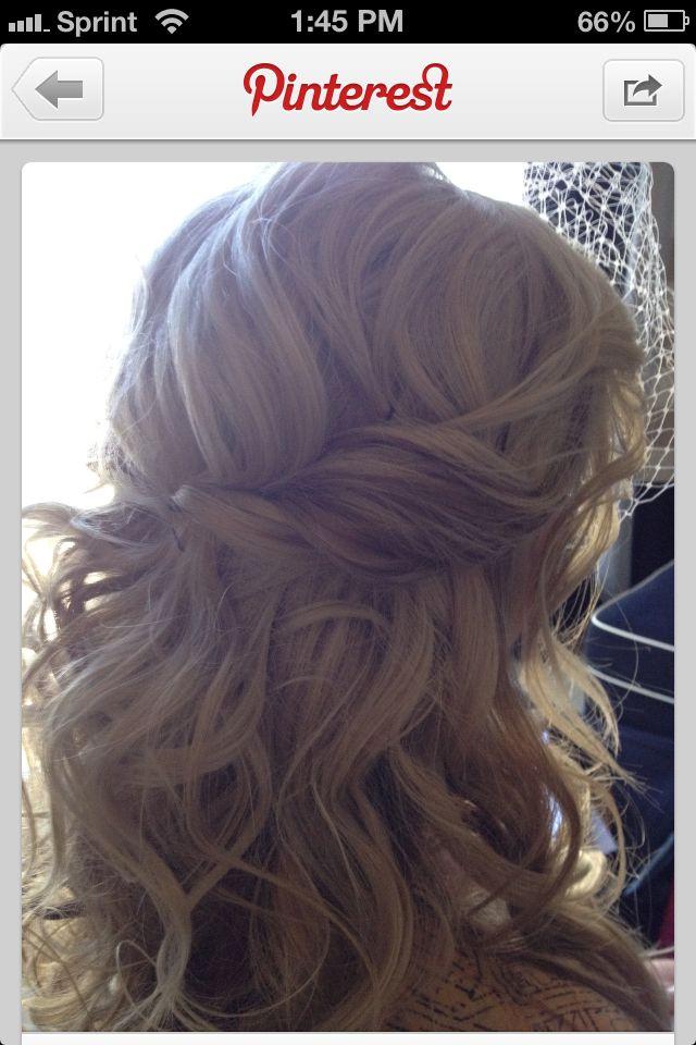 Possible wedding hair. Half up/half down.