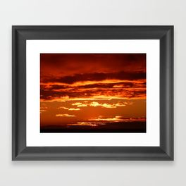 Sunset in the Clouds Framed Art Print