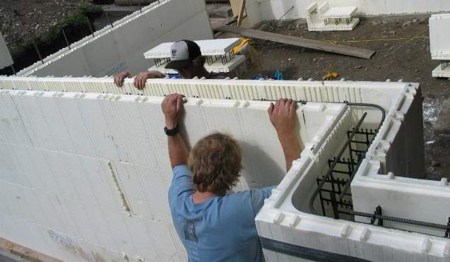 25 best polystyrene houses images on pinterest for Foam block wall construction