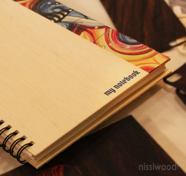 Go stylish..be natural...printed wooden notepads from nissiwood..