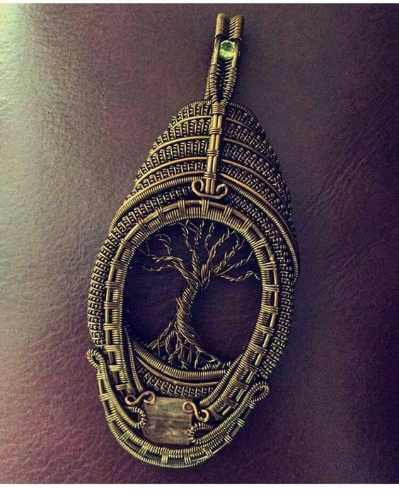 Gorgeous wire wrapped tree of life pendent