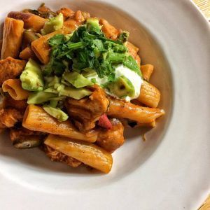 Weight Watchers-friendly Chicken Fajita Pasta, 11SP