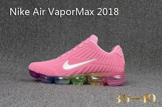 online store 68306 f3038 Womens Nike Air Vapor Max 2018 Pink White Multi-Color ...