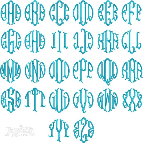 17 best images about embroidery designs   monograms on pinterest
