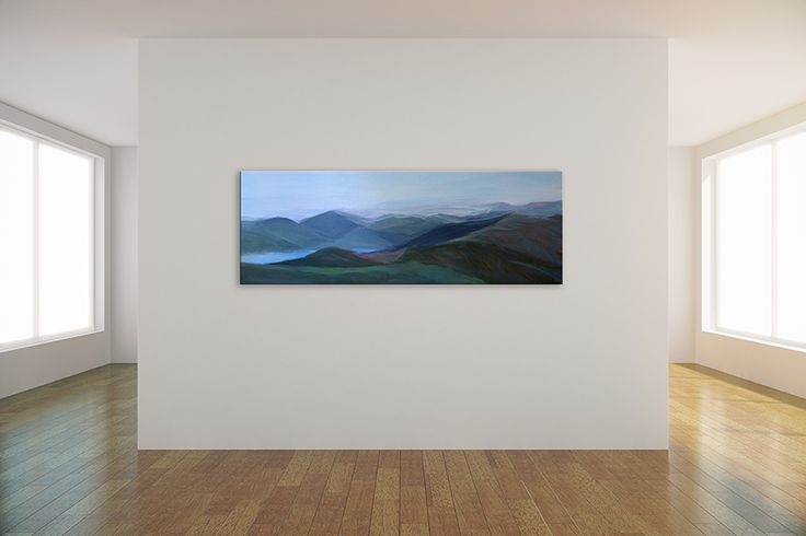 The mountains go on forever. A contemplative piece for an open space or to create a view.