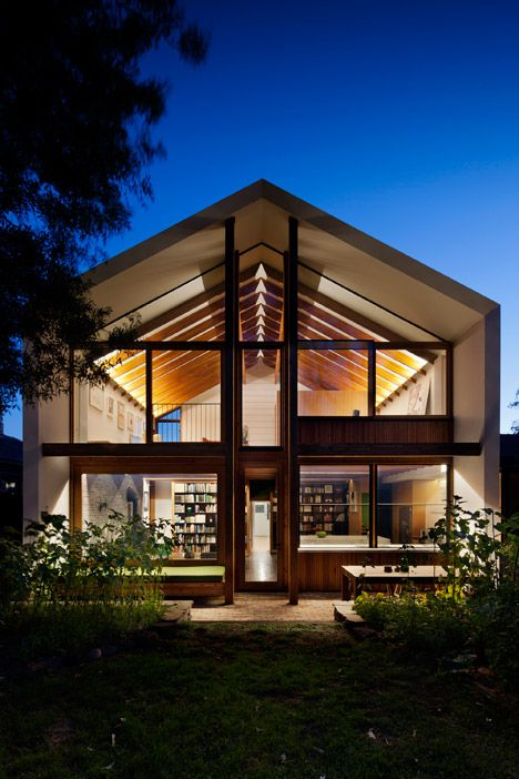This gabled extension borrows the form of a doll's house.