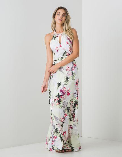 4606e653d9 Vestido Tecido Longo Estampa Maui - zinzane - mobile
