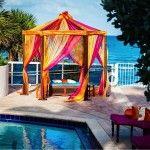 Suhaag Garden, Florida Indian wedding decorators, Trump International Beach Resort, poolside wedding, outdoor wedding, beach wedding, destination wedding, Mehndi, oceanfront, cabanas
