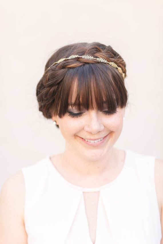 Tiny Fern Vine Crown   Bridal or Special Occasion by AcuteDesigns