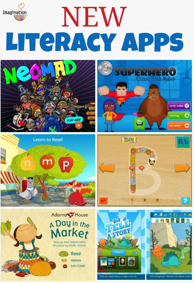 Ready for new literacy ipad apps for your kids? Here are six new apps that we're loving for writing, reading, and storytelling.