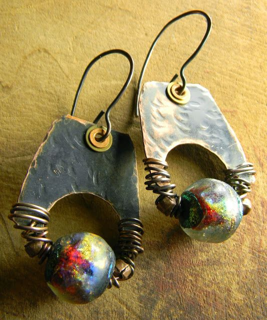Northern Lights by Gloria Ewing of Crysalis Jewelry on the Earrings Everyday Blog