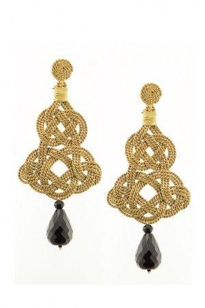 Chandelier Earrings  - Antique gold