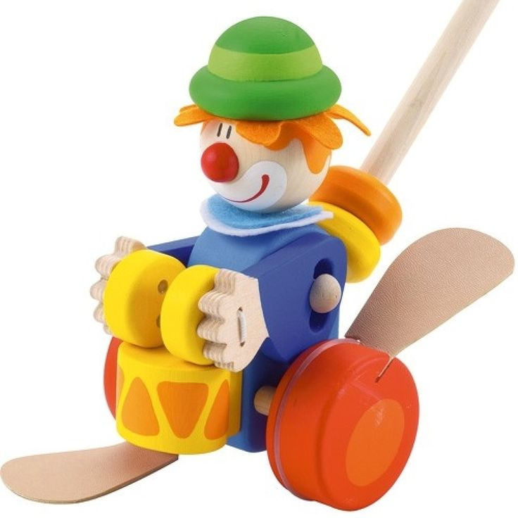 Sevi 82190 - Push along Clown - lalberoazzurro.net
