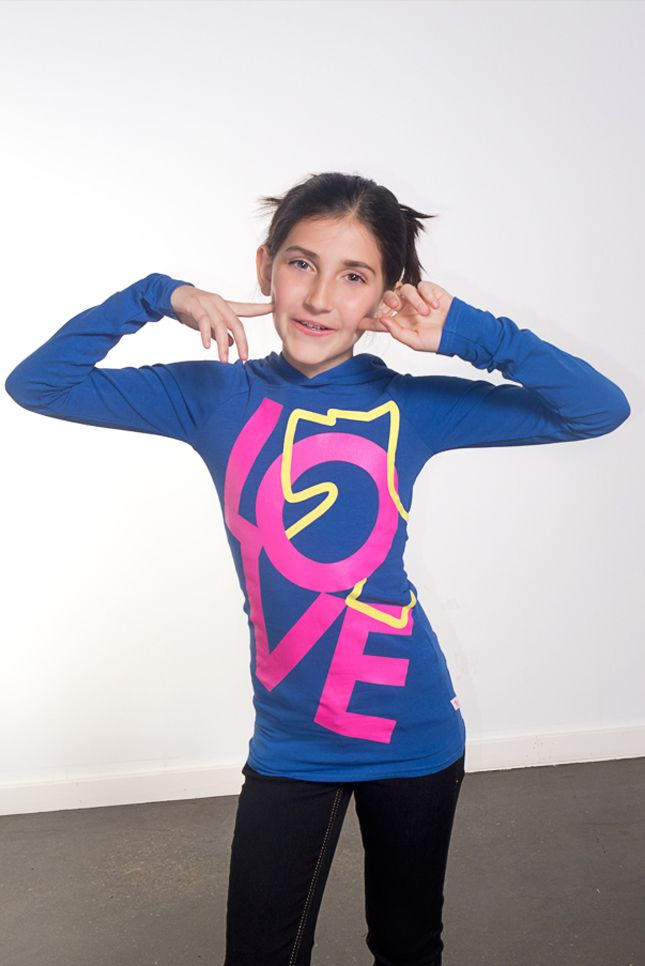 Hey there silly! Here's a cute top for you! Navy blue, pink and yellow, Joshua Perets, long sleeves hoodie