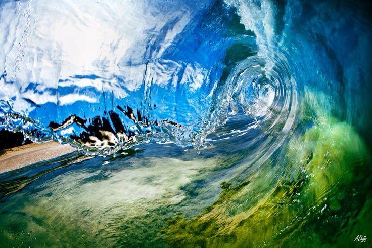 Inside a breaking wave