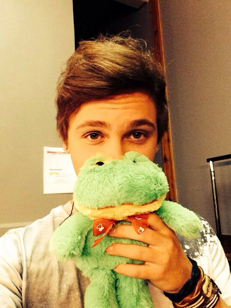 Imagine:  Opening a message to see Keaton cuddling with the frog you gave him because he misses you