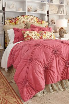 Bella Smocked Coverlet - traditional - duvet covers - other metro - by Soft Surroundings