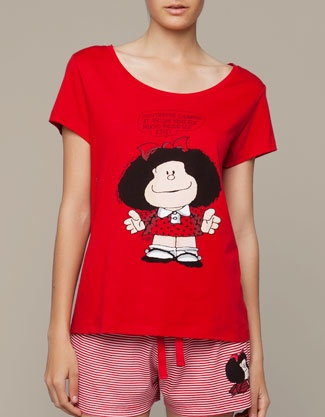 Camiseta Mafalda - Camisetas - Oysho & Friends - CATEGORIAS - España