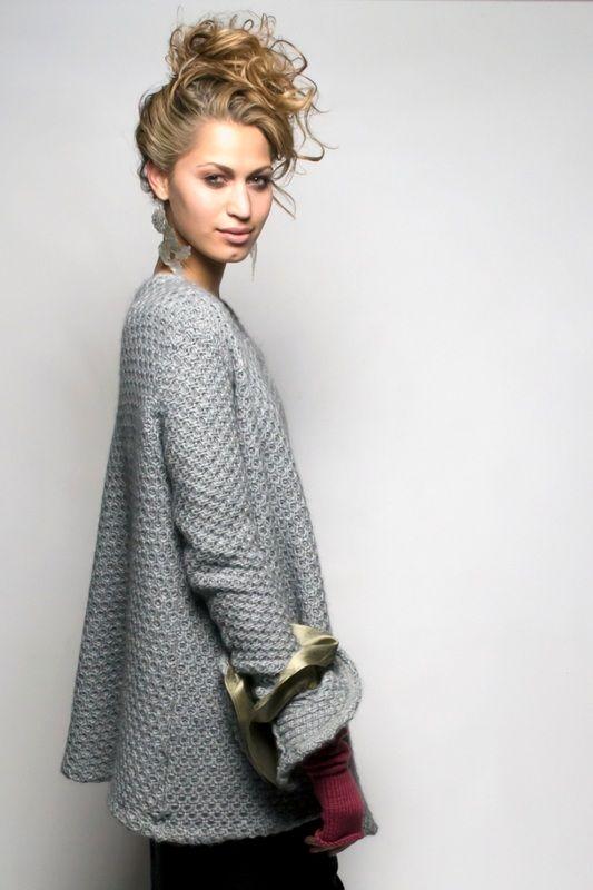 SIES!isabelle winter14 Duck kimono in alpaca knit