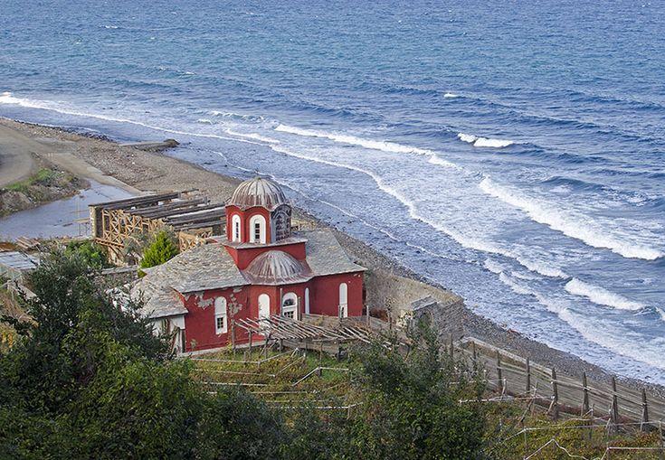 Chapel on Mt. Athos - Iviron monastery, Agion Oros