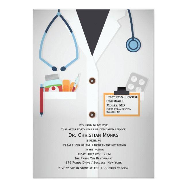Medical Staff Retirement Invitation Zazzle Com Retirement
