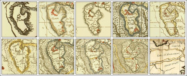 Maps of Fanø - Denmark - Johannes Mejer: Kort over Fanø 1639-1659