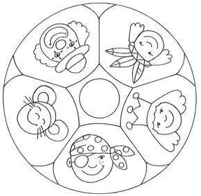 malvolage mutter | Ein Mandala mit fünf verschiedenen Verkleidungen für Karneval ...