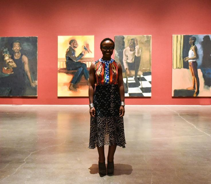 "Artist @lynetteyiadomboakye created the seventeen paintings for her new exhibition ""Under-Song For A Cipher"" in just a few months. The works embrace many of the conventions of historical European portraiture, but these subjects are purely fictional. The characters brought to life in her works are almost always black, and—in part because of the artist's style and medium—they call to mind the absence of people of color from centuries of European painting and attest to the enduring relevance of…"