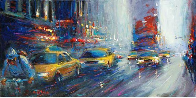 Pinturas impresionistas de ciudades - Van Tame