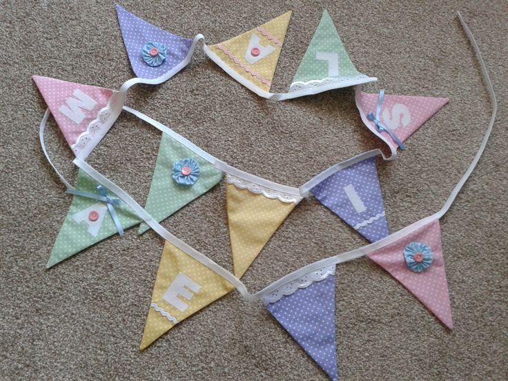 Appliqued bunting by Sew Nanny Annie