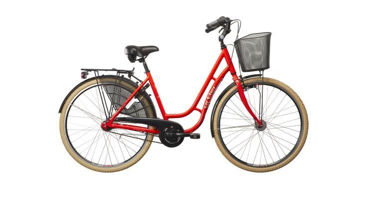 Ortler Sanfjord - Bicicleta de paseo para mujer - rojo