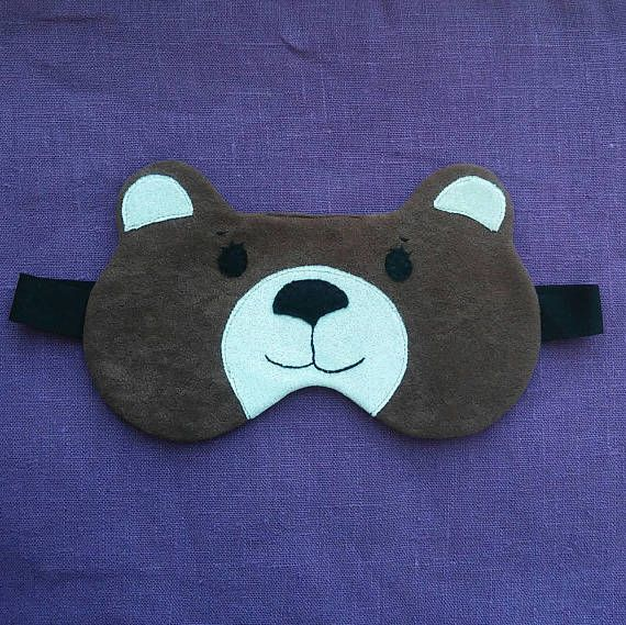 Check out this item in my Etsy shop https://www.etsy.com/listing/598006819/sleep-mask-bear-blindfold-brown-travel