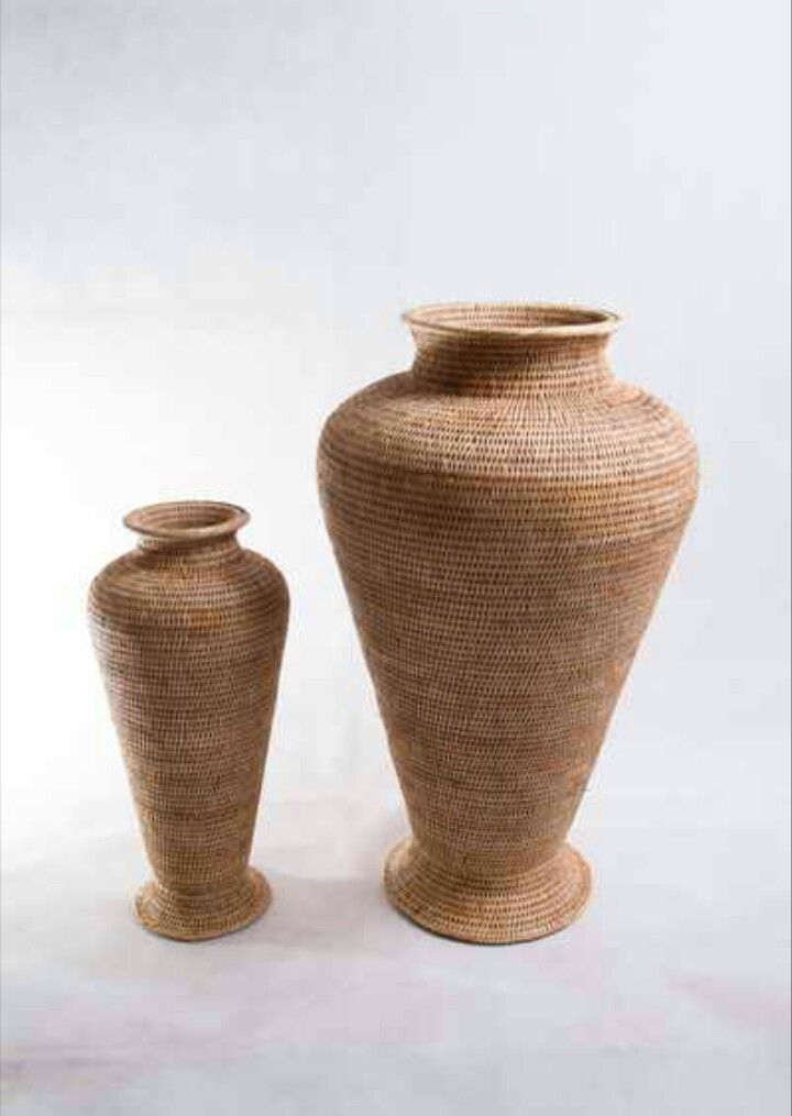 Beautiful Pots indeed hand made by woven rattan