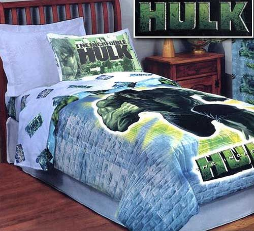 Superb You Can Now Get The Incredible Hulk In Your Bedroom With This Hulk Bedding.  This Ice Blue Brick Wall Print Is The Background Of The Incredible Hulk  Glowing ...