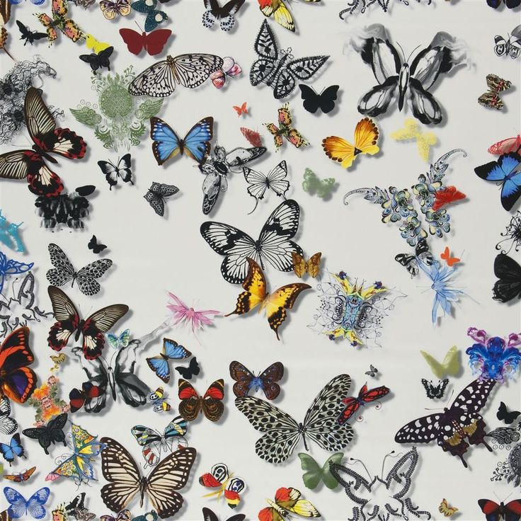 butterfly parade - opalin fabric | Christian Lacroix