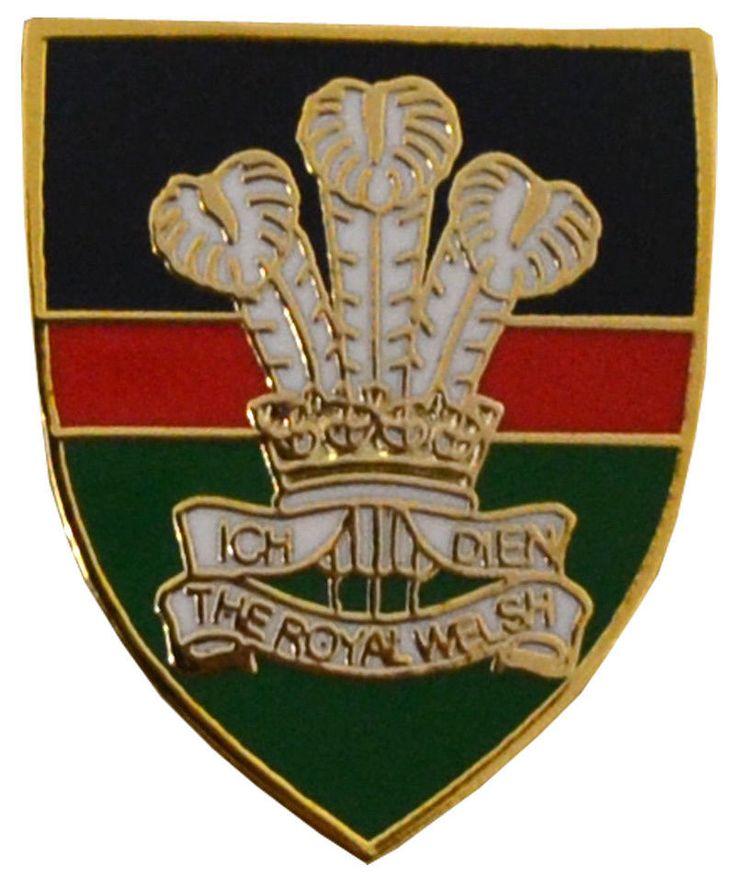 Royal Welsh lapel badge.