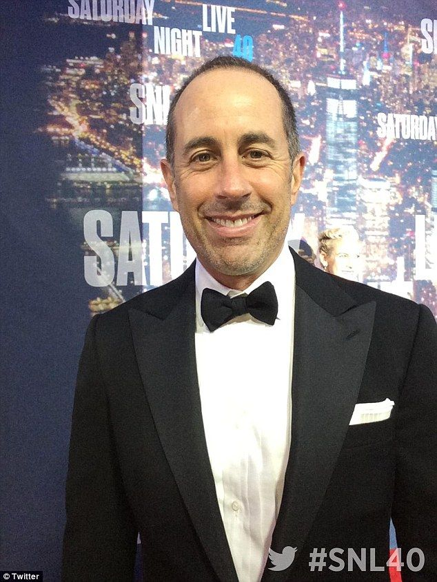 Jerry Seinfeld beams at SNL 40 as wife Jessica, 43, shows off ...