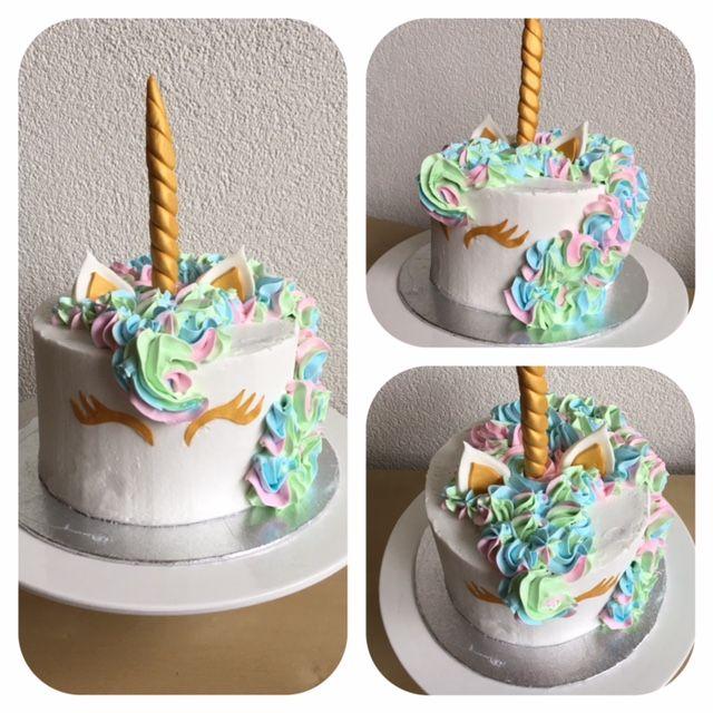 Love this Unicorn cake with pastel colors and golden accents! ^_^  Deze Eenhoorntaart vind ik echt gaaf, pastel kleurtjes met gouden accenten! ^_^
