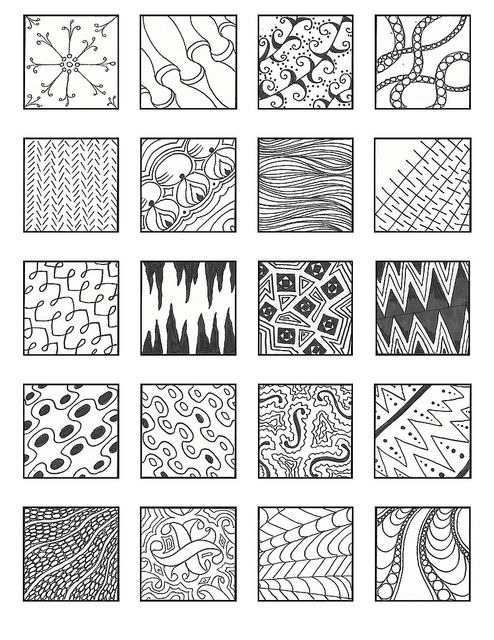 Zentangle Patterns - noncat 2  - via Flickr - Photo Sharing!