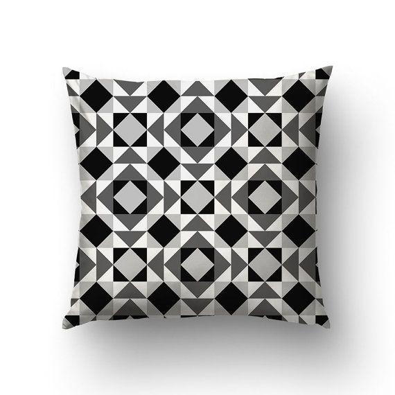 Triangle Pillow Geometric Pillows Geometric Decor by Macrografiks