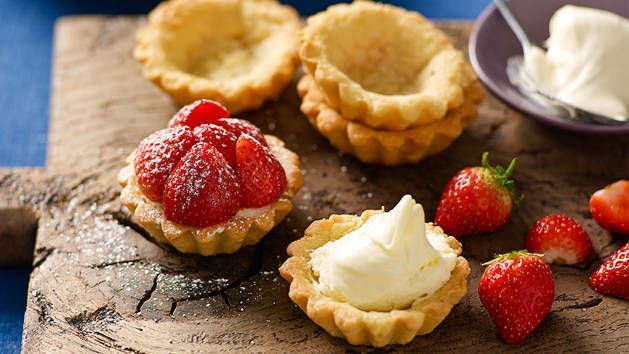 Perfect for your next high tea! You can find fluted tartlet moulds in large supermarkets or kitchenware stores.