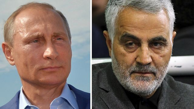 """Russian military build-up in Syria part of secret deal with Iran..""""escalated Russian presence began just days after a secret Moscow meeting in late July between Iran's Quds Force commander - international arm of Iran's Revolutionary Guard and their chief exporter of terrorism - and Russian President Vladimir Putin...The Russians are no longer advising, but co-leading the war in Syria,"""" one intelligence official said."""