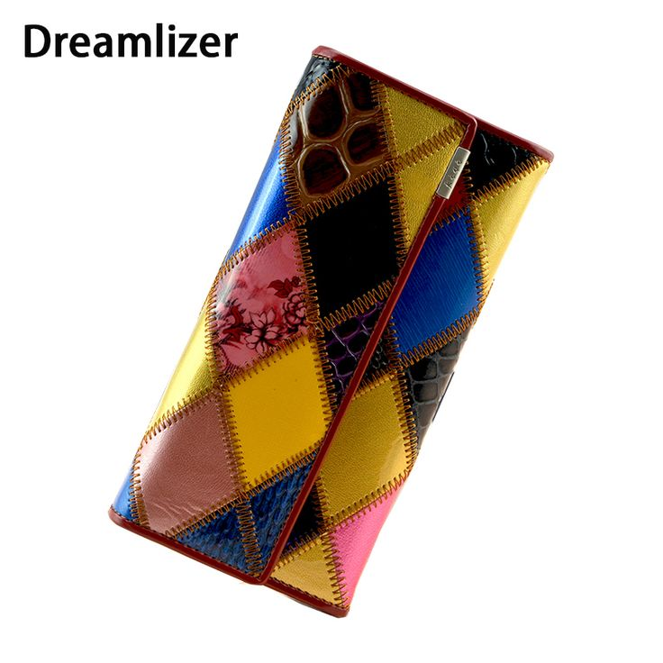 Fashion Long Genuine Leather Women Wallets Multicolor Patchwork Hasp Classic Female Clutch Carteira Feminina Women Purse Wallet www.bernysjewels.com #bernysjewels #jewels #jewelry #nice #bags