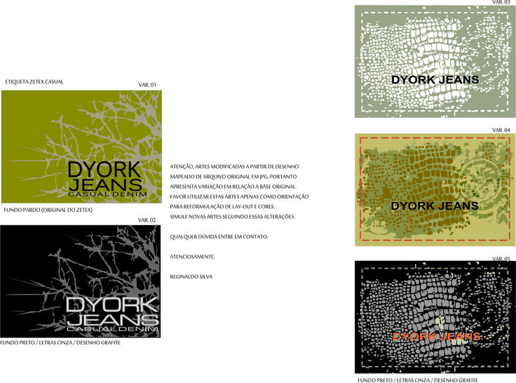 Etiquetas zetex da marca DYK - Nova Esperança-PR