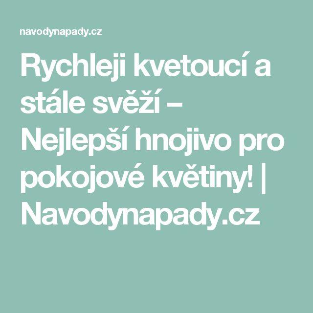 Rychleji kvetoucí a stále svěží – Nejlepší hnojivo pro pokojové květiny! | Navodynapady.cz