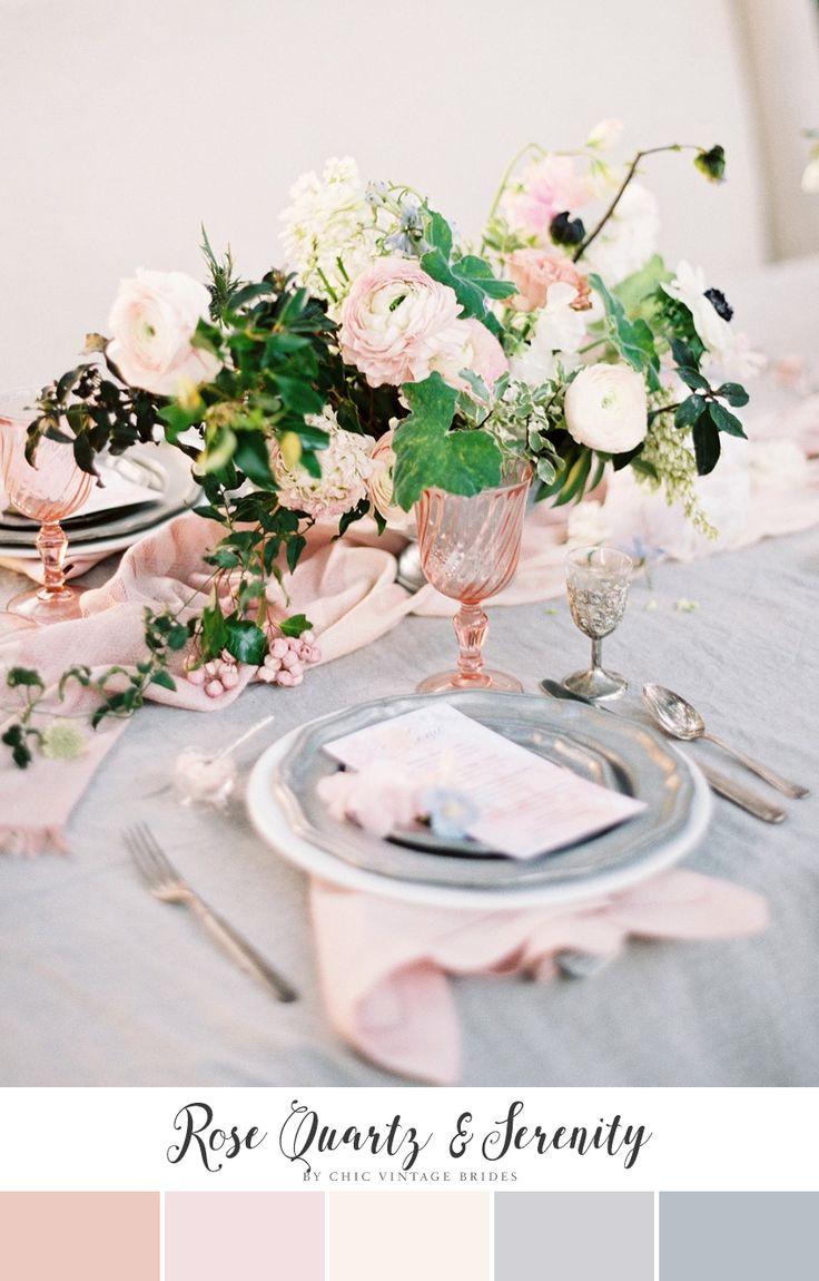 Rose Quartz & Serenity Wedding Colour Palette