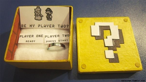 Just like Mario would propose to Peach. | 33  Awesome Marriage Proposals You Couldn't Say No To